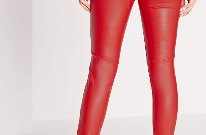 4a9ce241d047b Many women choose versatile things that can be the basis for creating any  look, and thousands of women can confirm that womens red faux leather pants  is the ...