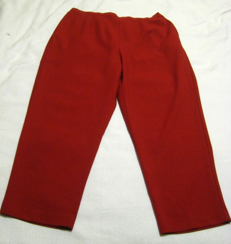 22w womens red pants photo - 1