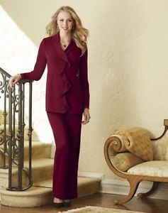 22w womens red pants photo - 2