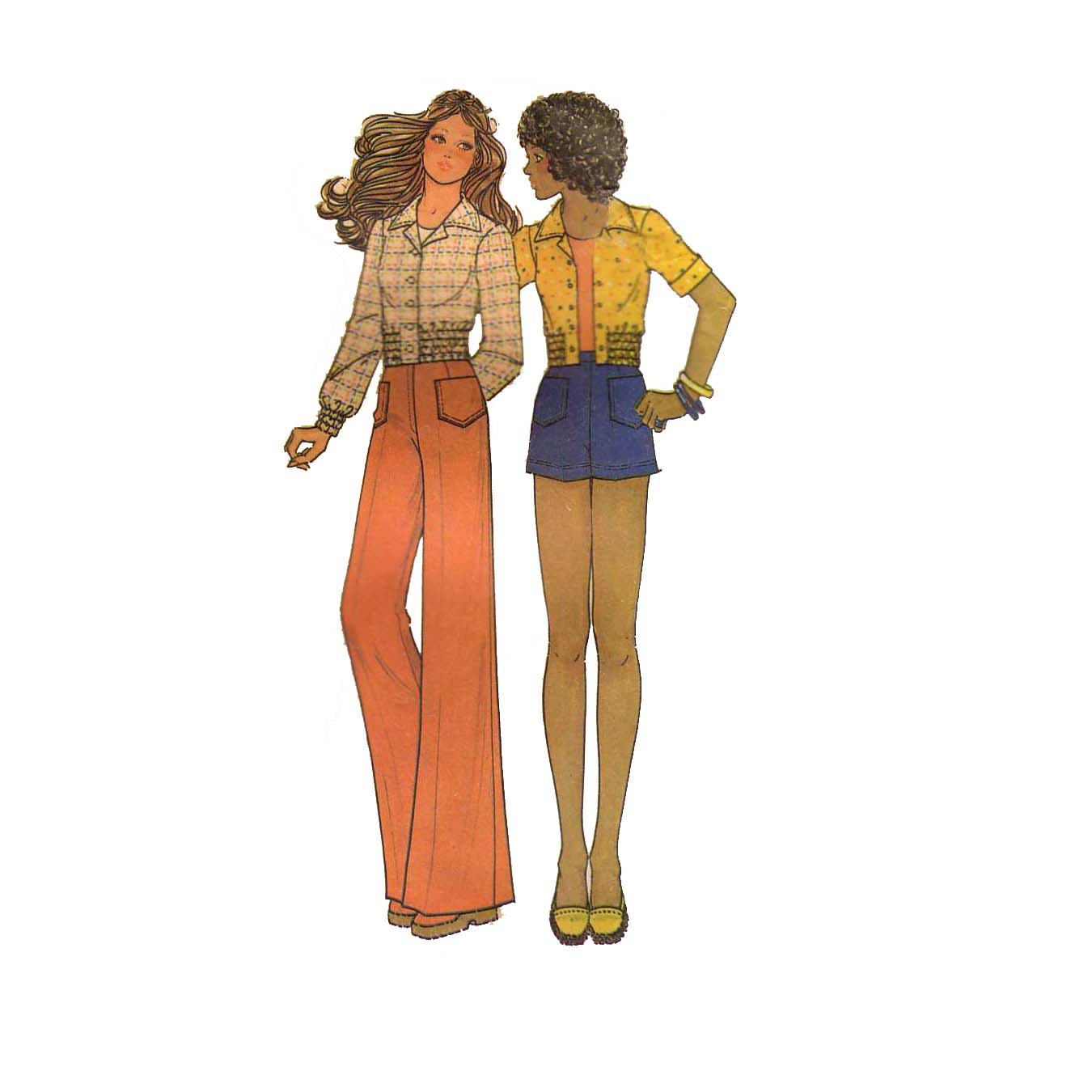 70s hot pants suit photo - 2