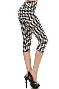 black & white houndstooth womens pants photo - 1