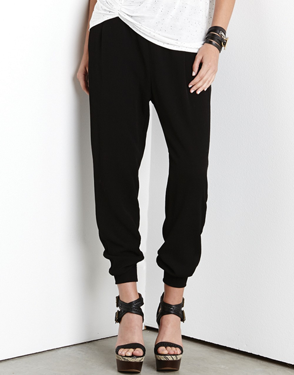 black ankle pants for women photo - 1