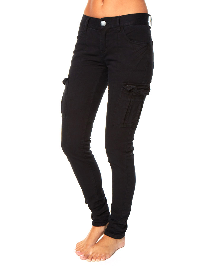 black cargo pants womens photo - 2