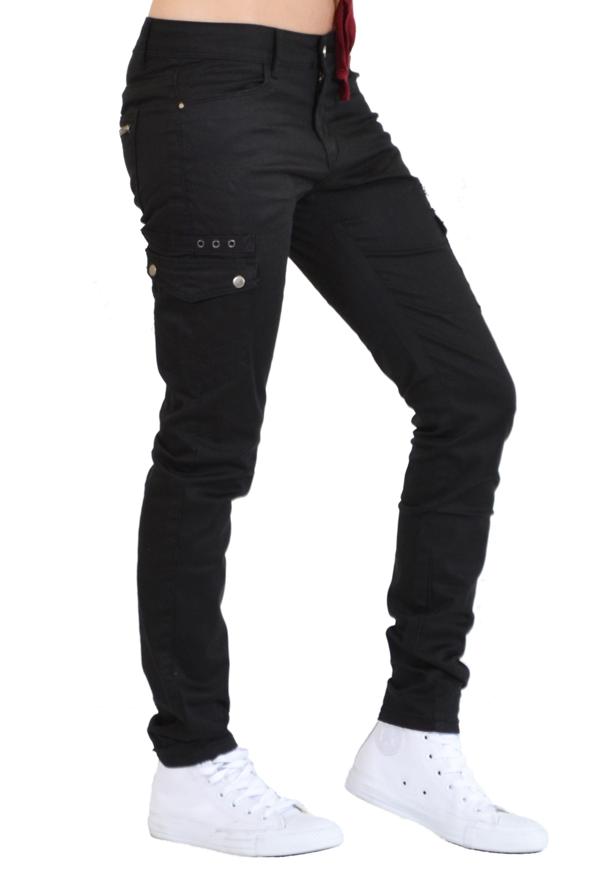 black skinny cargo pants womens photo - 1