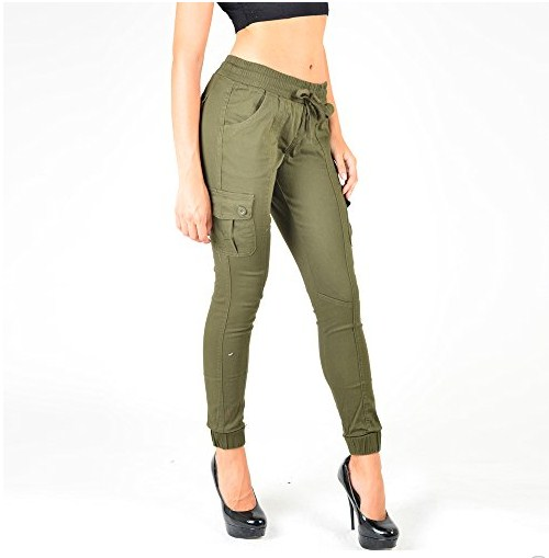 black skinny cargo pants womens photo - 2