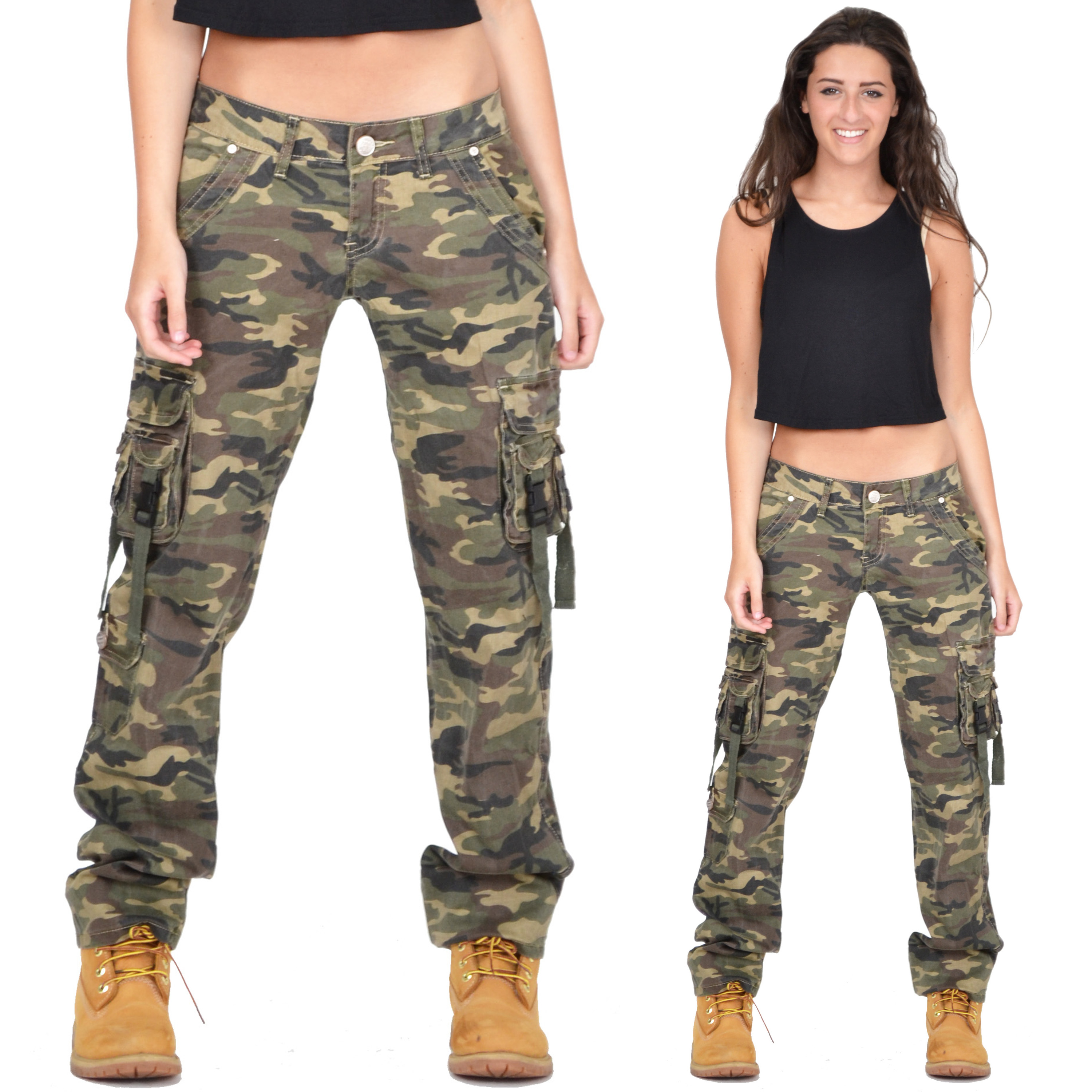 camouflage cargo pants womens photo - 2