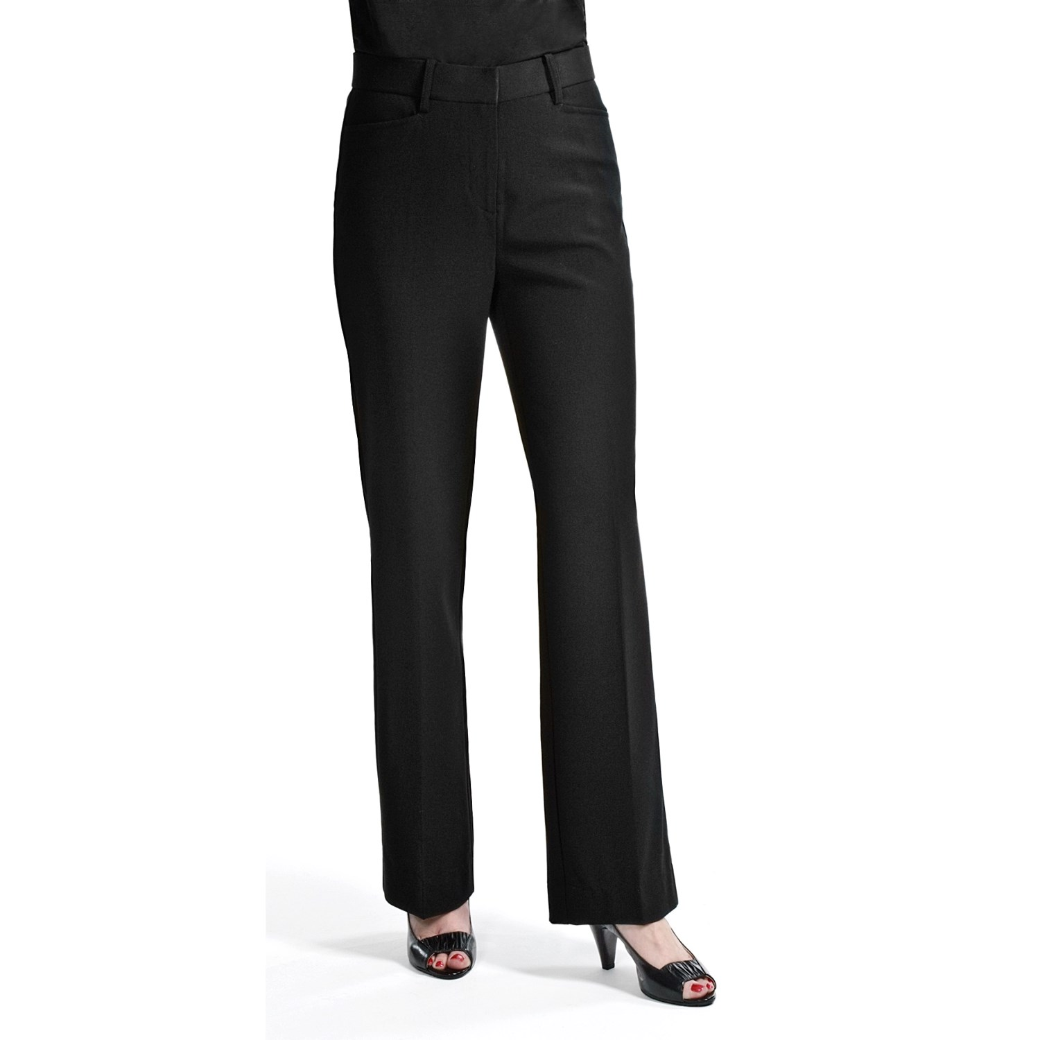 casual black pants for women photo - 1