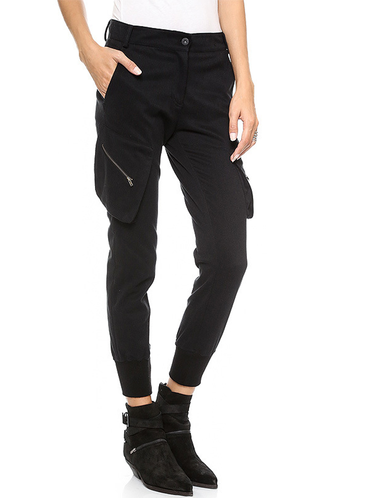 casual black pants for women photo - 2