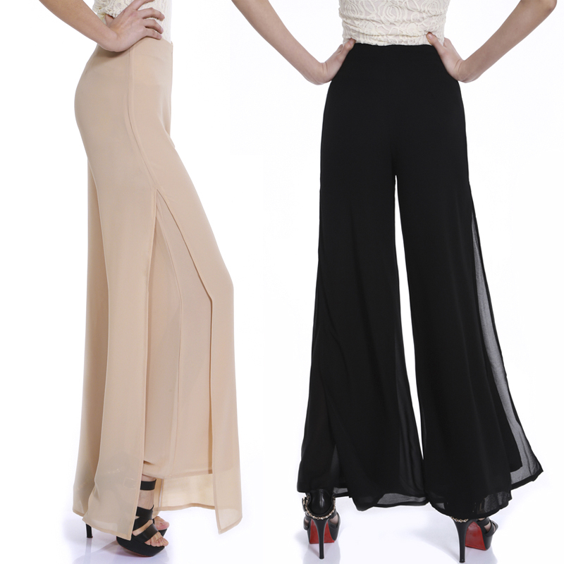 chiffon palazzo pants plus size photo - 2
