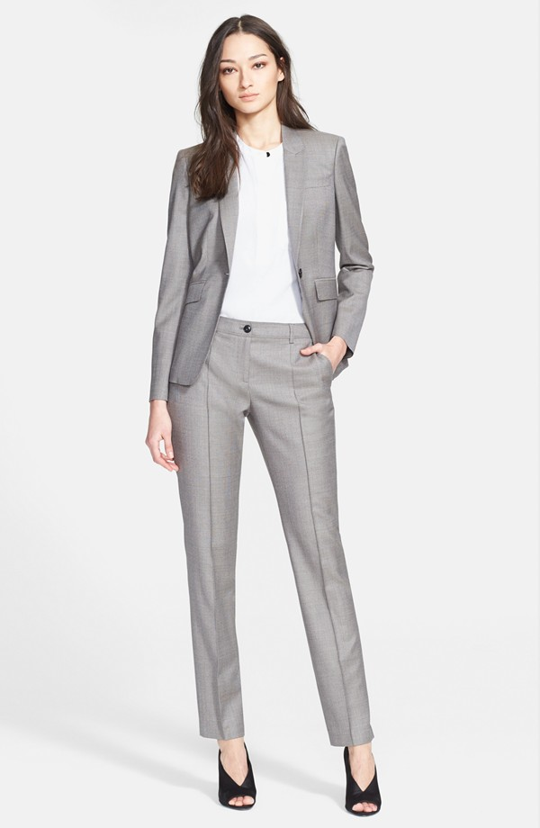 cropped pants suit womens photo - 1