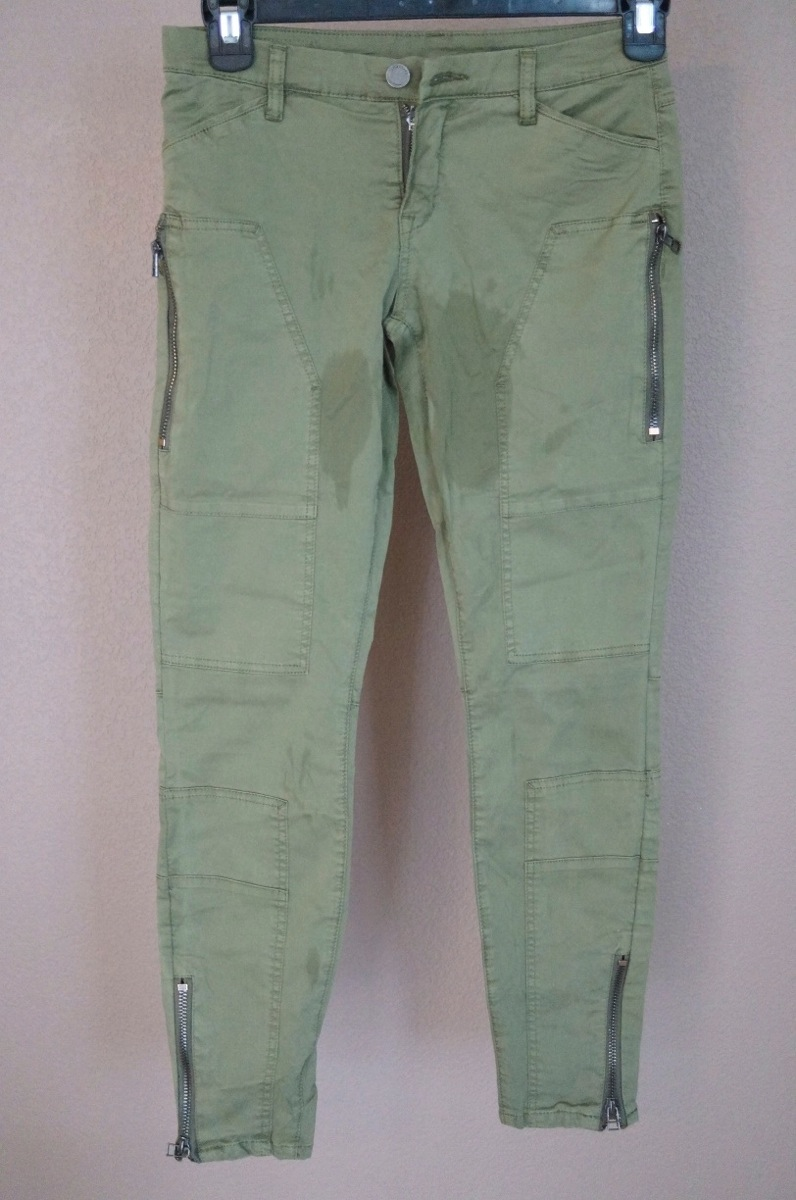 dark green cargo pants womens photo - 1