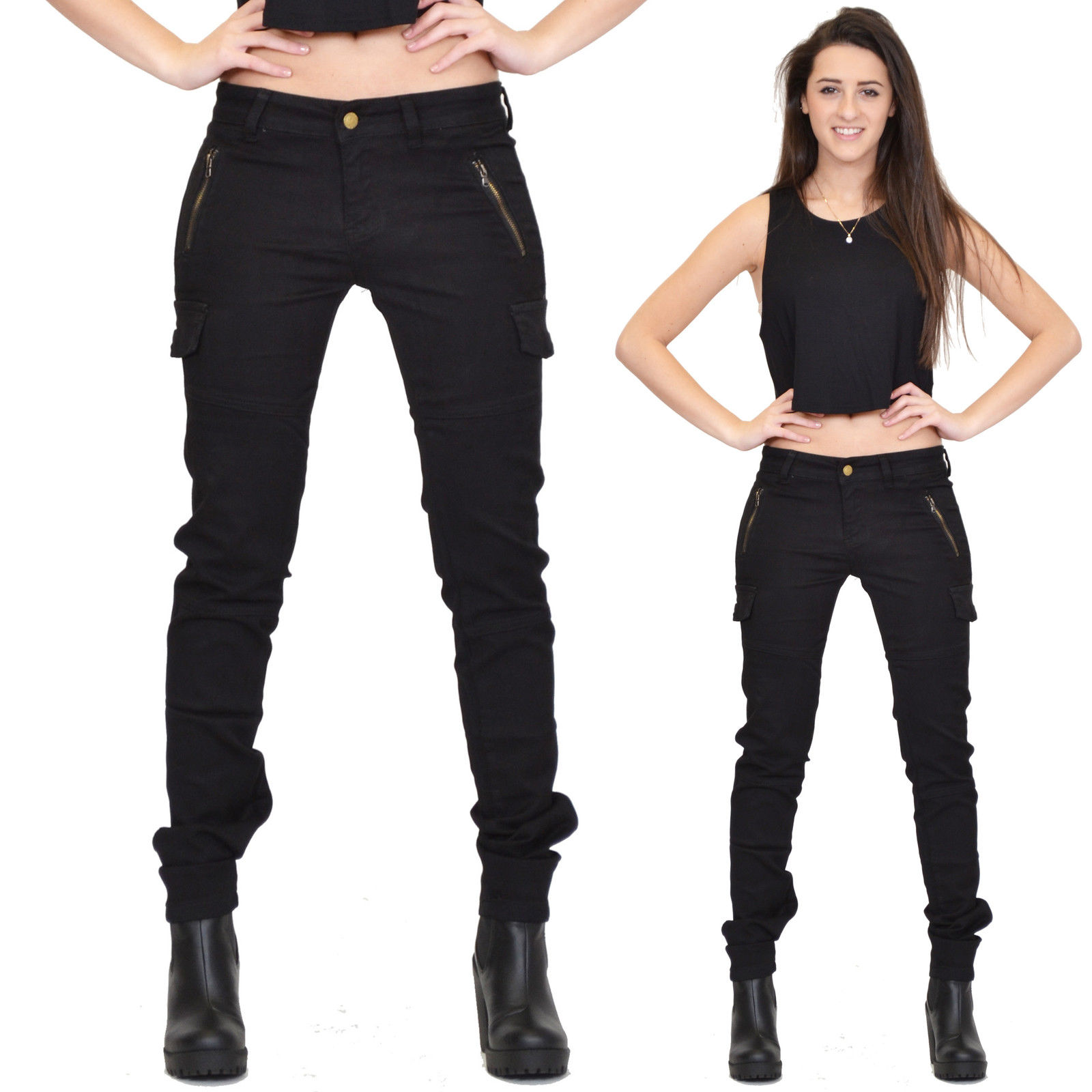 fitted cargo pants womens photo - 1
