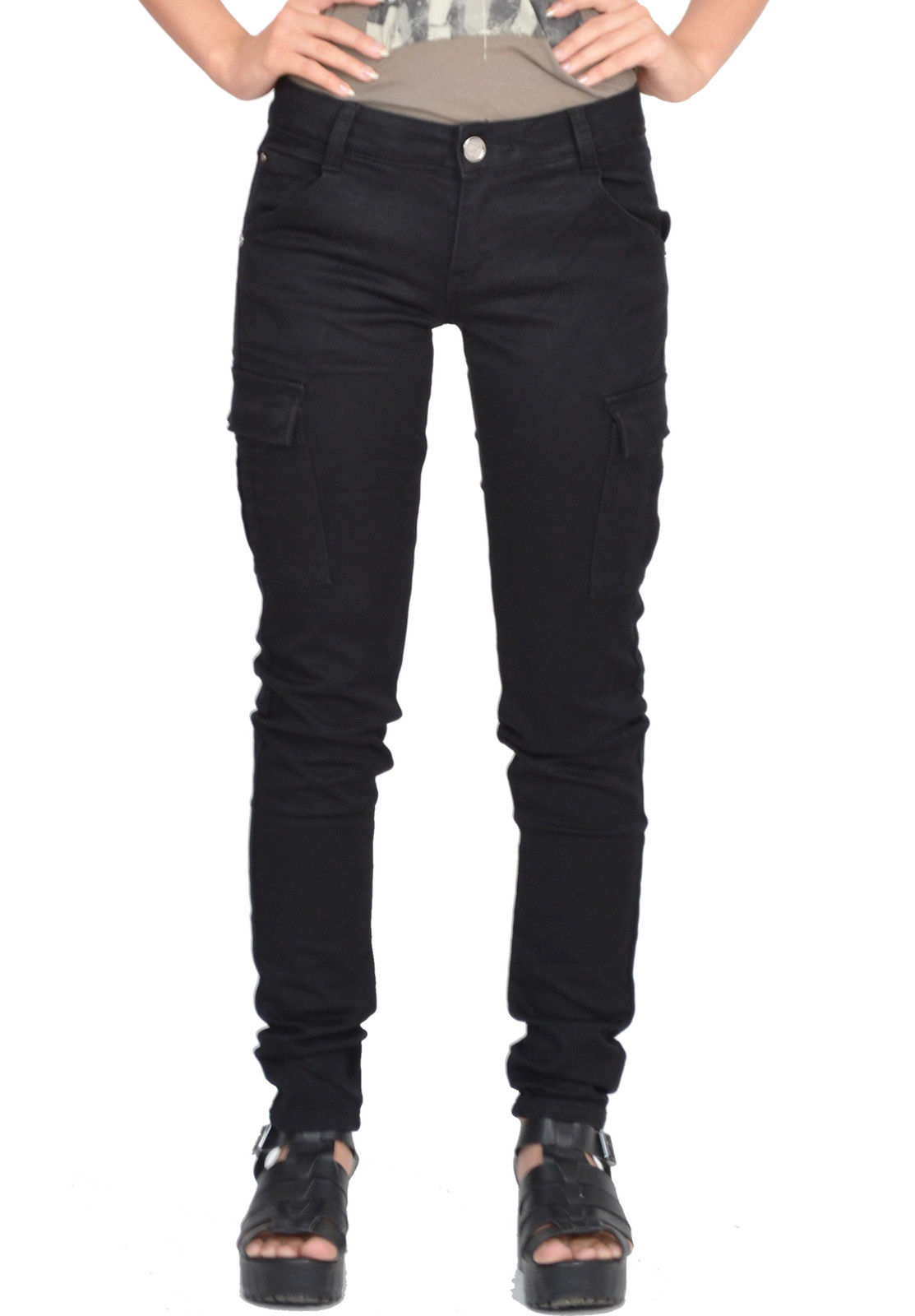 fitted cargo pants womens photo - 2