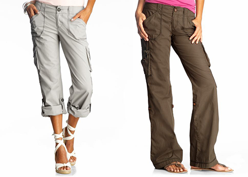 linen cargo pants womens photo - 1