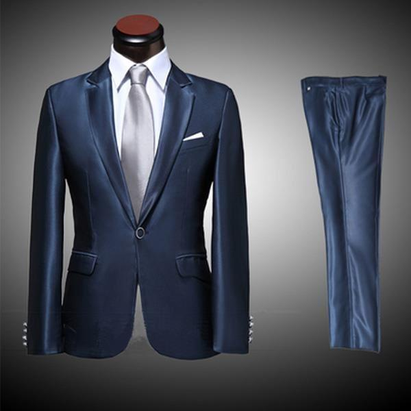 navy blue suit pants photo - 1