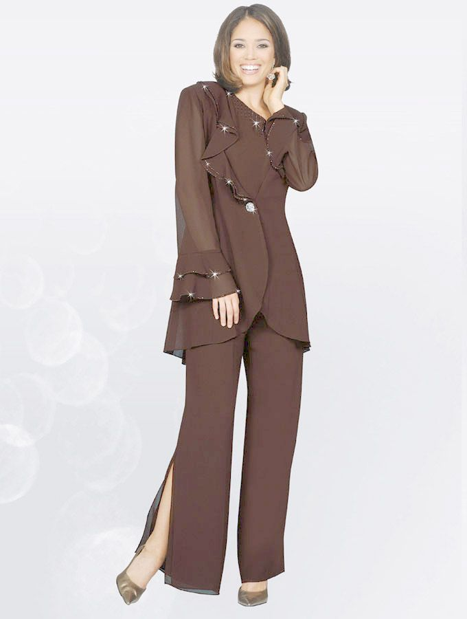 pants suits plus size wedding photo - 2