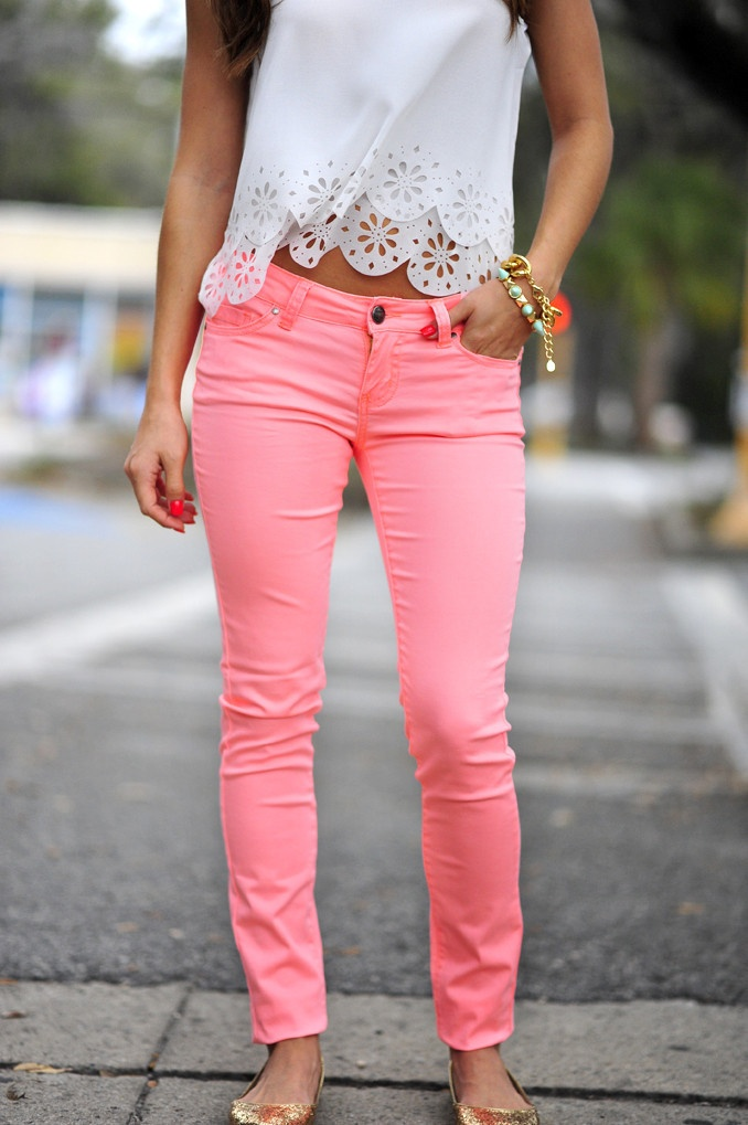 pink pants womens photo - 2