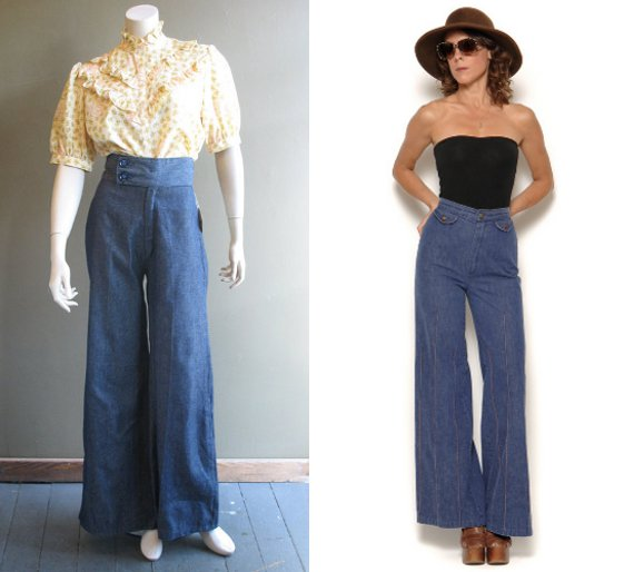 plus size 70s trousers photo - 1
