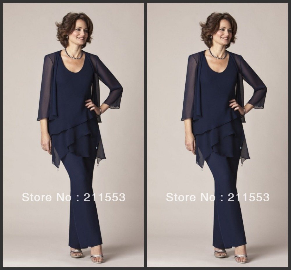 plus size ankle pant suit photo - 1