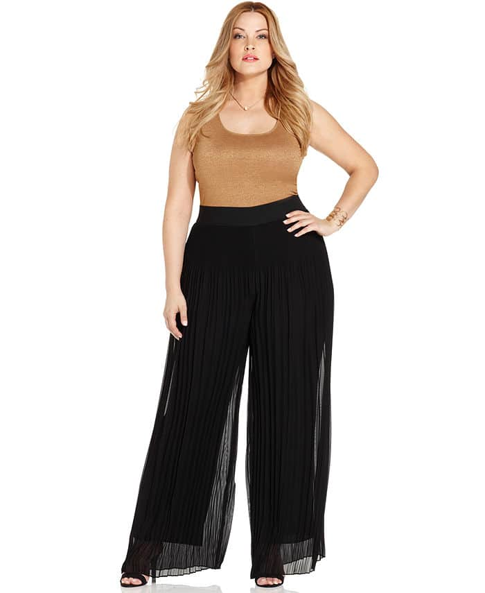 plus size black palazzo pants photo - 1