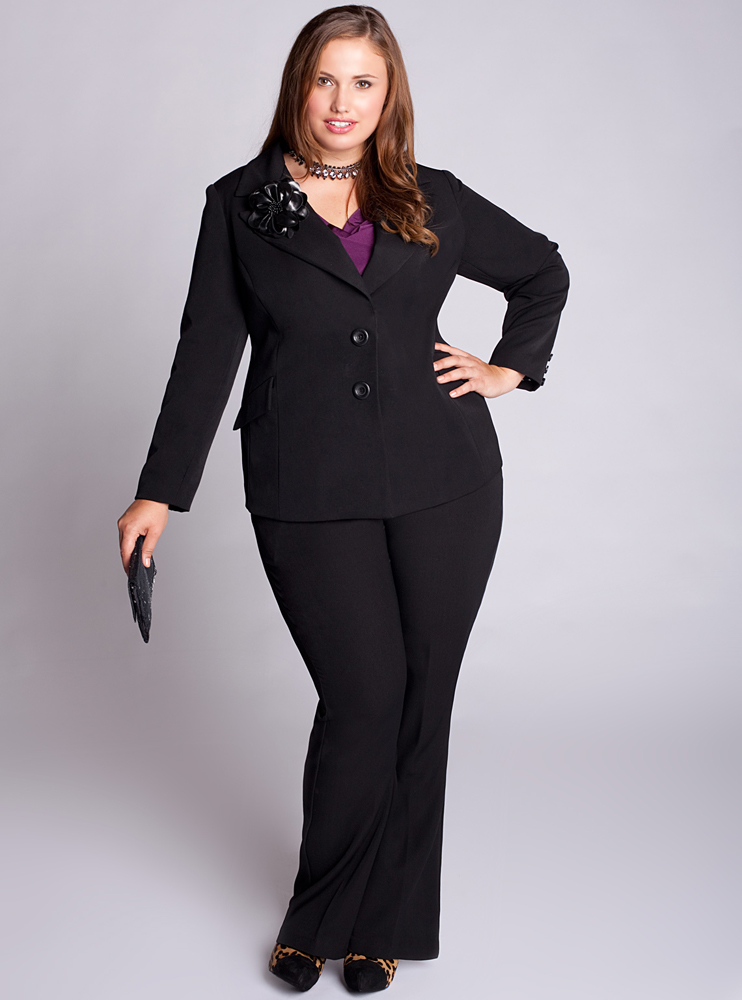 plus size dressy pant suits photo - 1
