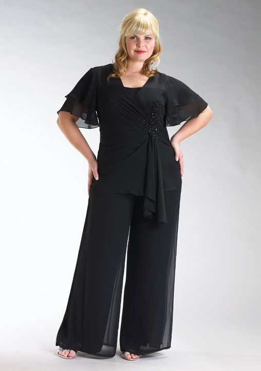 plus size dressy pants outfits photo - 1