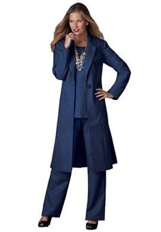 plus size duster pant suits photo - 2