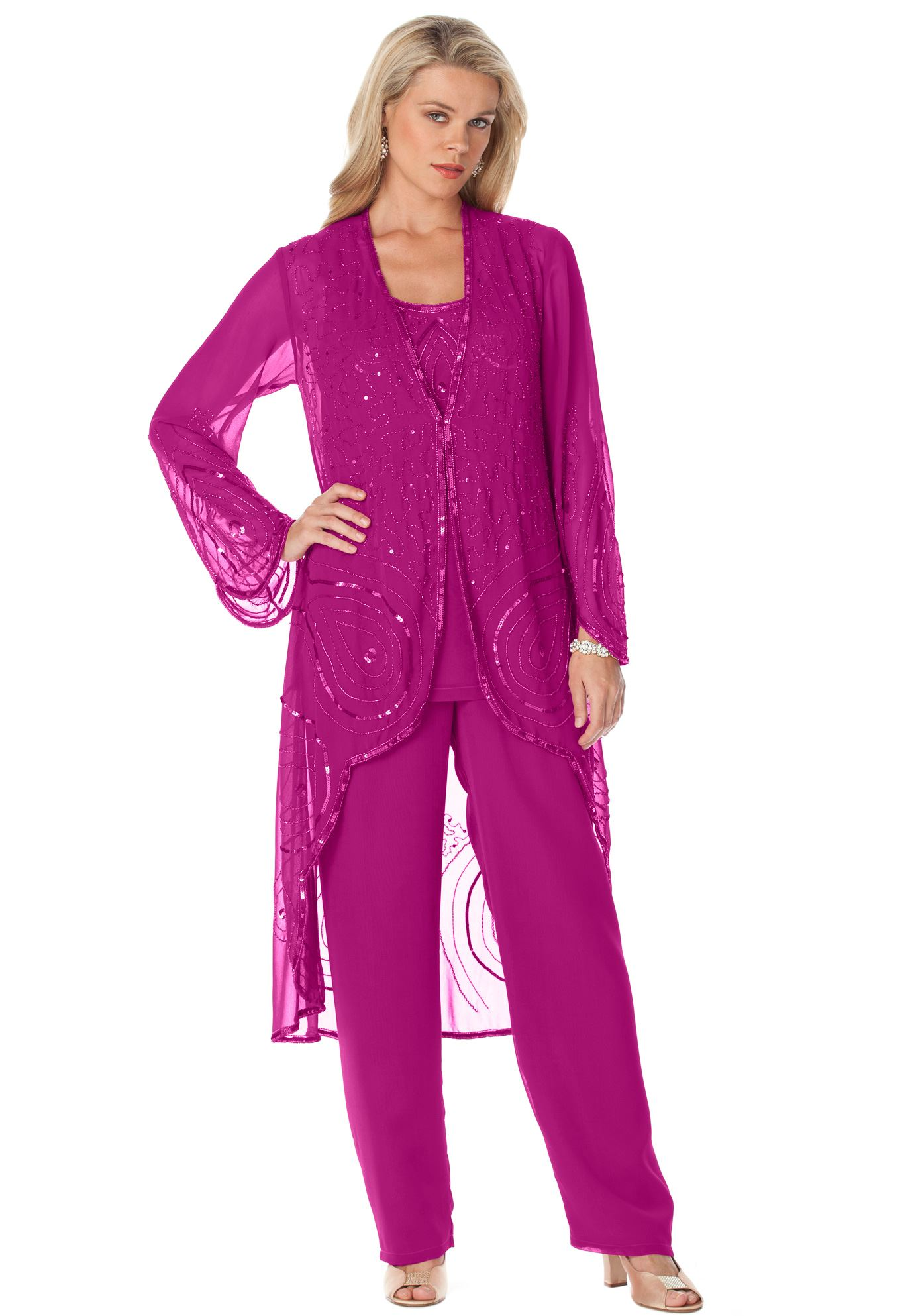 plus size evening pants suits photo - 1
