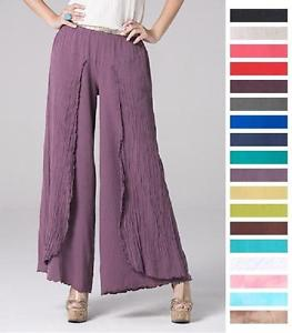 plus size gauze pant photo - 1
