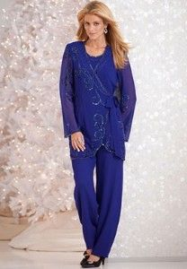 plus size georgette pant suits photo - 1