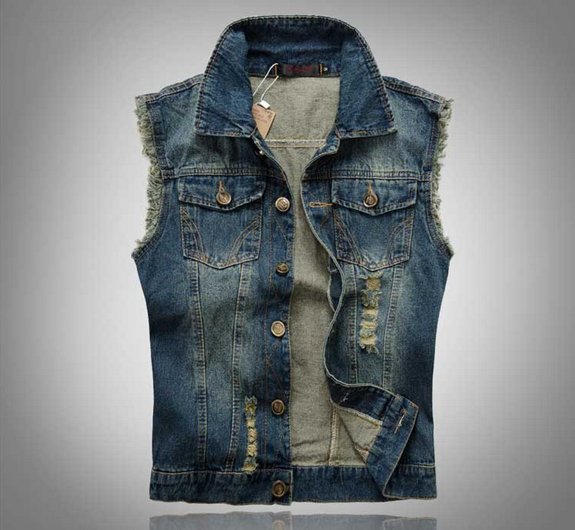 plus size jeans vest photo - 1