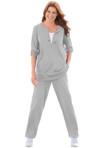 plus size knit pant sets photo - 2
