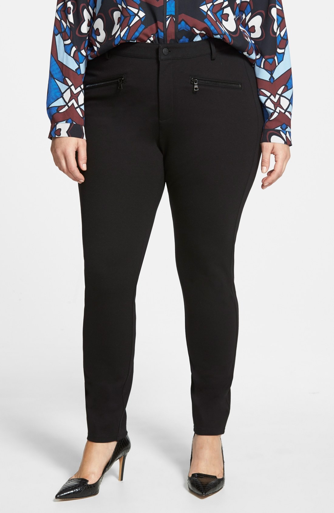 plus size knit pants with pockets photo - 1