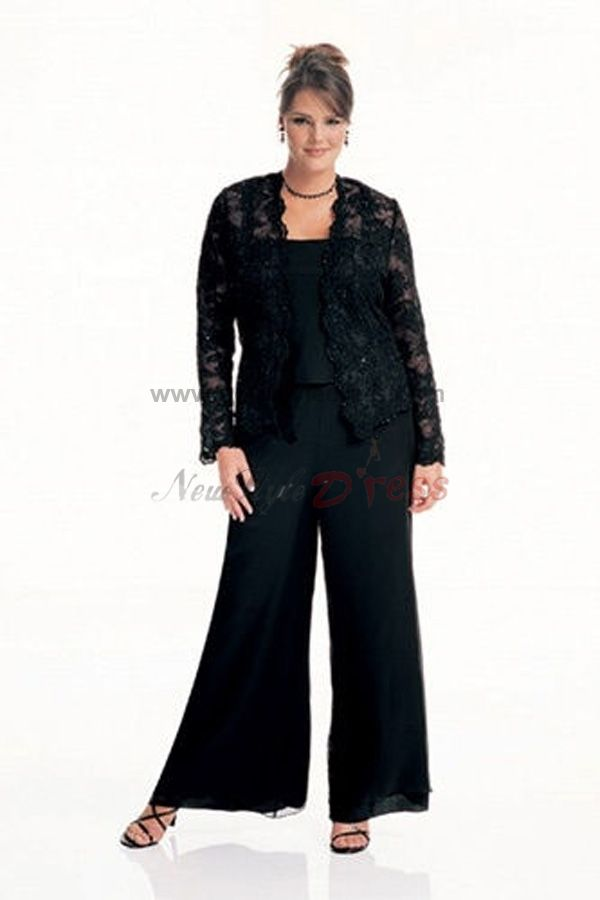 plus size pant suits for mother of the bride photo - 2