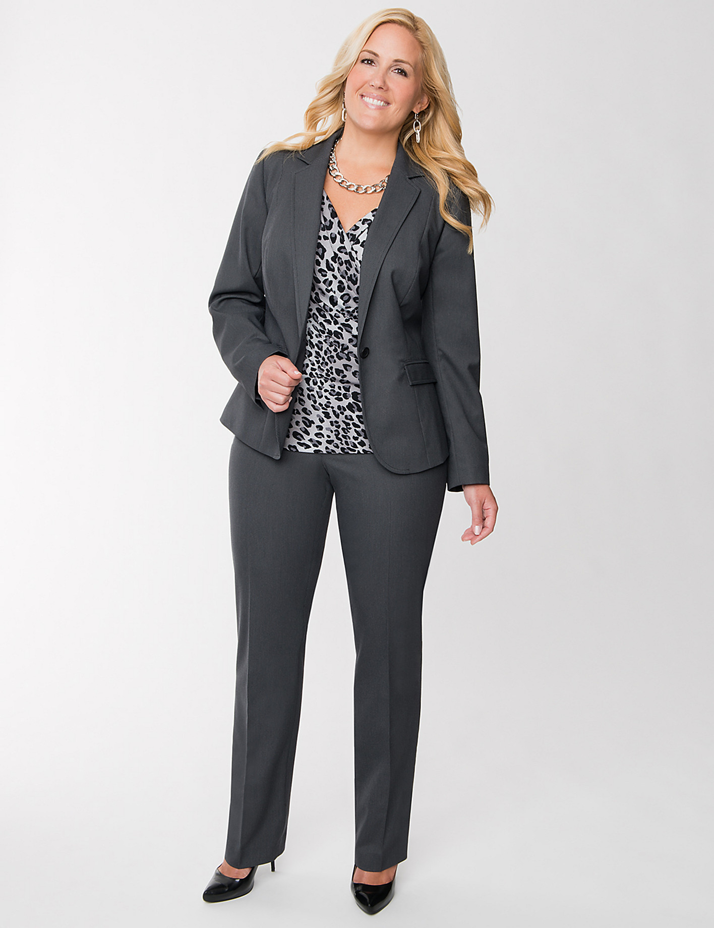 plus size pant suits for work photo - 1