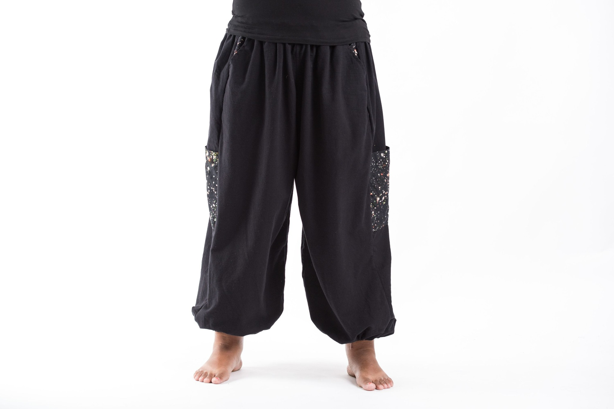 plus size pants cotton photo - 2