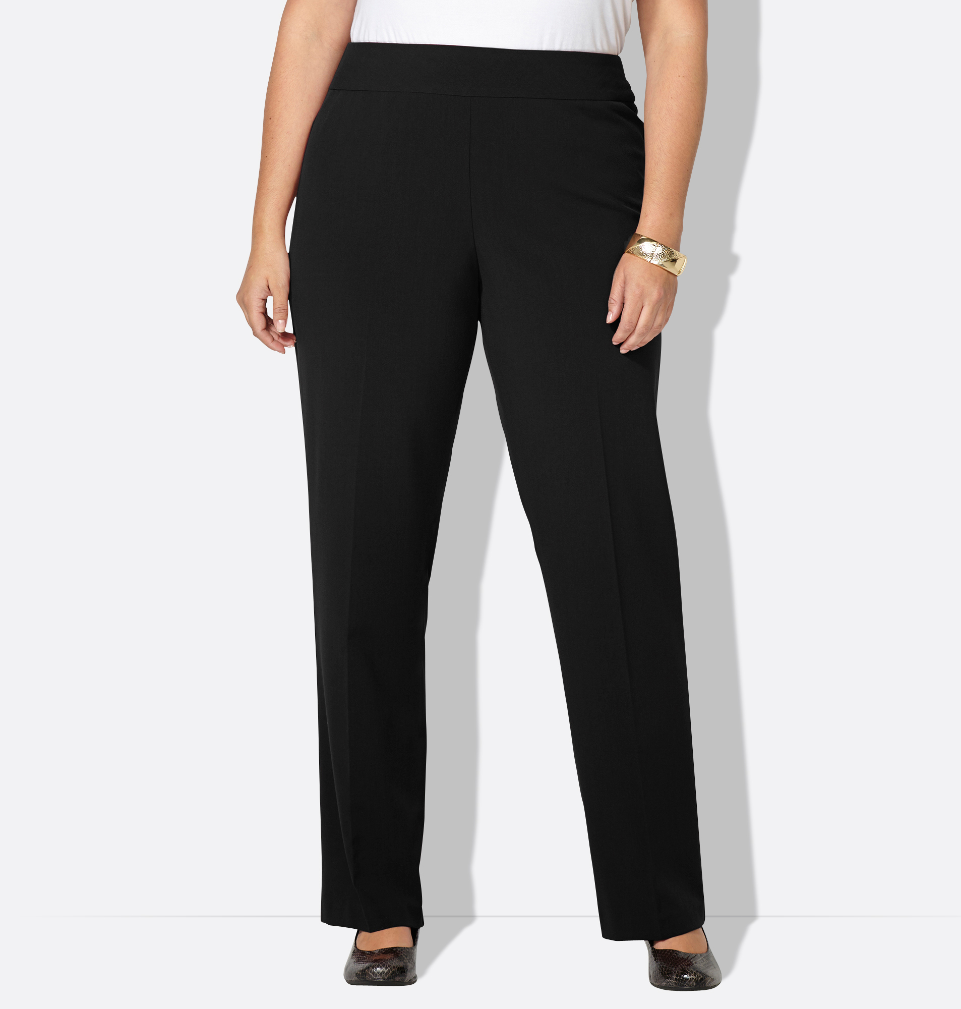 plus size pants with tummy control photo - 1