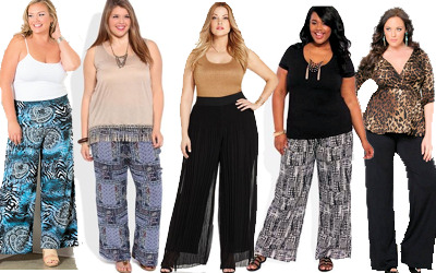 plus size printed pants photo - 1
