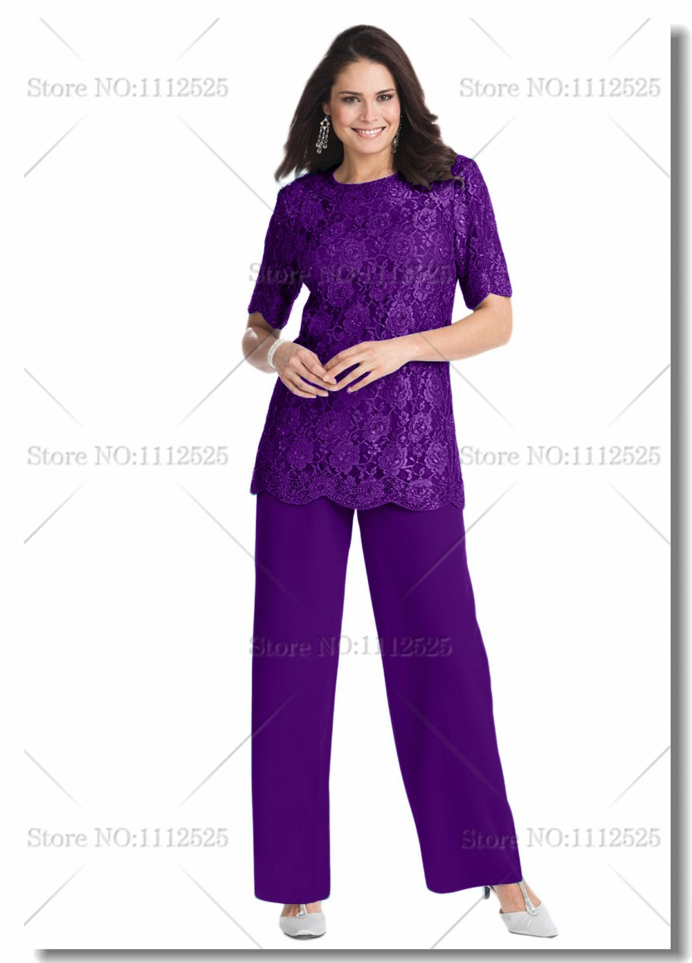 plus size special occasion pants suits photo - 2