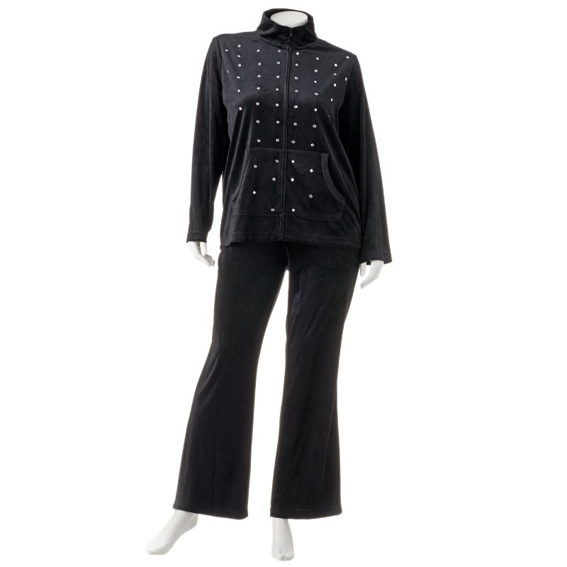 plus size velour pant sets photo - 1