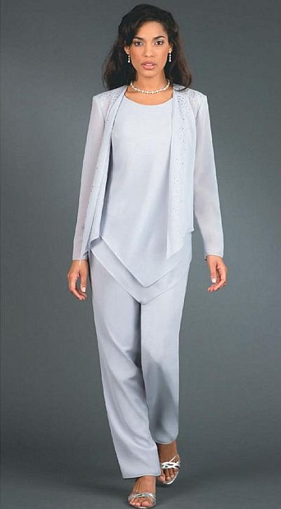 plus size wedding guest pant suits photo - 1