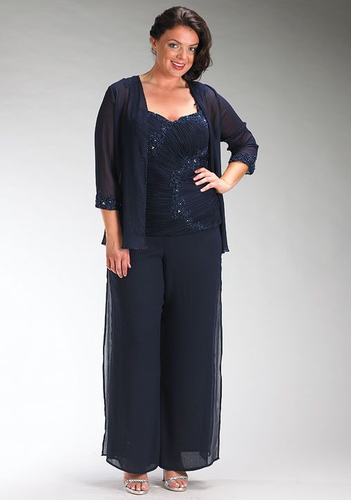 plus size wedding guest pant suits photo - 2