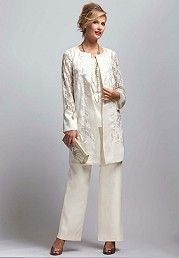plus size white pant suit photo - 2