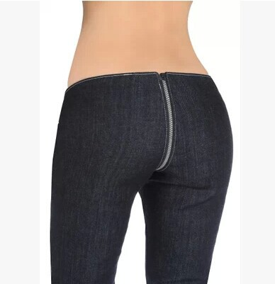 skinny pants with zippers photo - 2
