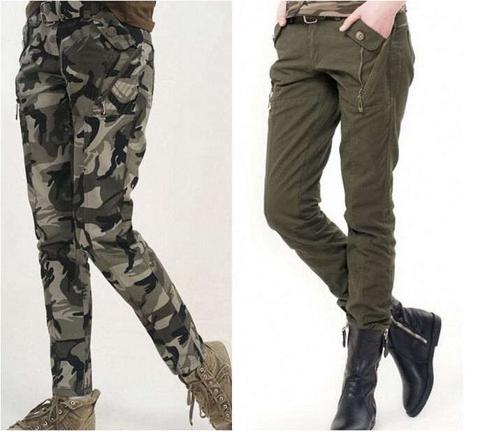 slim fit cargo pants womens photo - 1