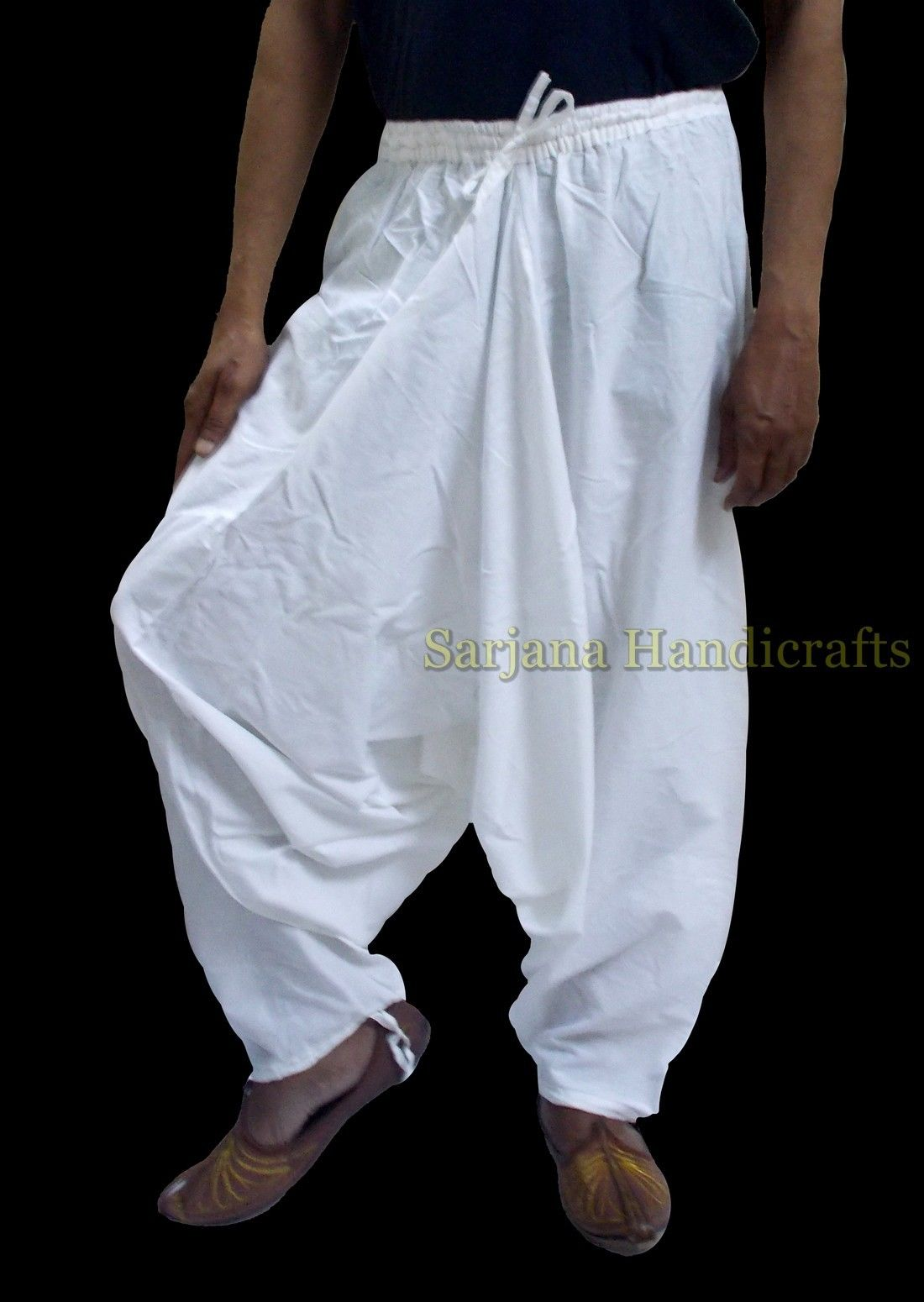 white harem pants women photo - 1