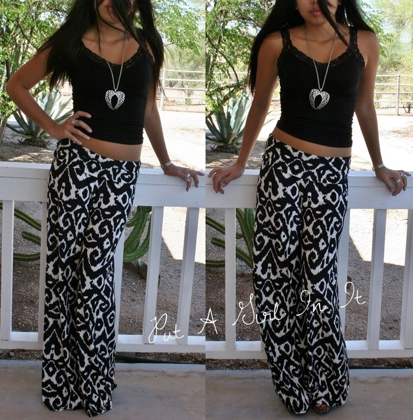 white palazzo pants plus size photo - 2