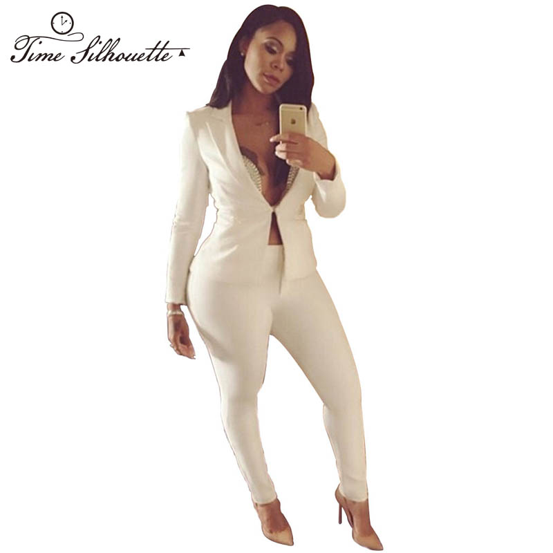 white pants and blazer women photo - 1