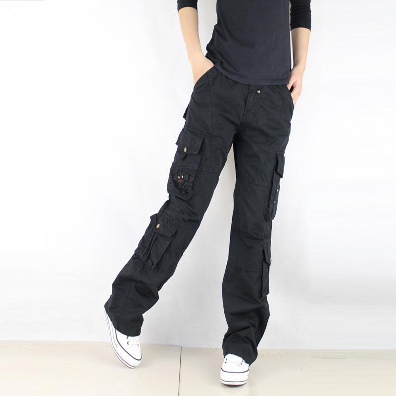 women s 5 pocket cargo pants photo - 1