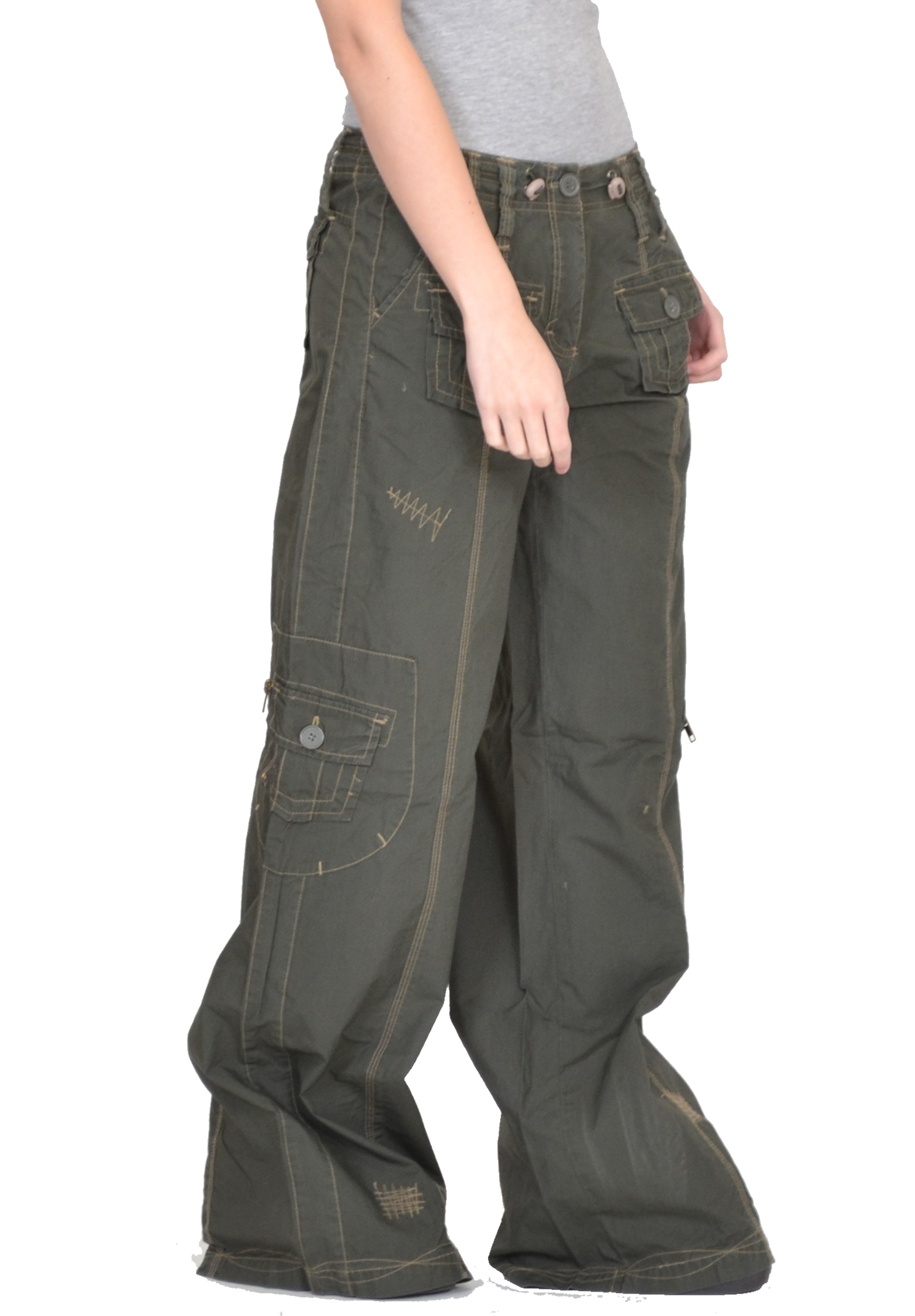 women s baggy cargo pants photo - 1